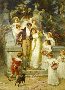 "Regency Bethrothal: ""Off for the Honeymoon"" by Frederick Morgan"