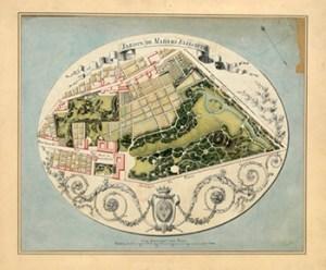 Plan of the Montreuil Estate Belonging to Madame Elisabeth, Courtesy of Bibliothèque nationale de France
