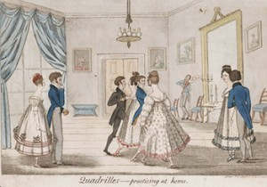 Quadrille Practicing at Home, Courtesy of Lewis Walpole Library