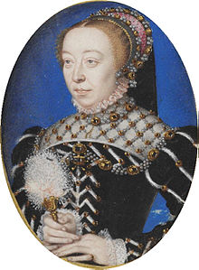 Catherine de' Medici, Painting Attributed to François Clouet, c. 1555, Courtesy of Wikipedia