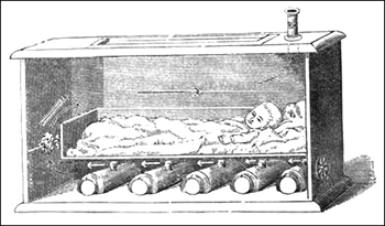 Tarnier's couveuse for Victorian preemies and babies.