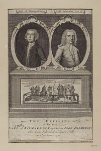 Effigies of Earl of Kilmarnock and Lord Balmerino With a Scene of the Execution, Courtesy of Wikipedia