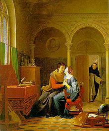 """Abaelardus and Heloïse Surprised By Master Fulbert,"" by Jean Vignaud (1819)"