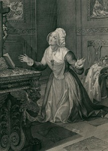 Marie Clotilde Kneeling Before an Alter, Courtesy of Bibliothèque nationale de France
