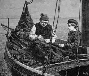 A Victorian Fisherman Mending the Jib, Author's Collection