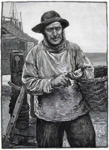 1885 Image of a Fisherman, Author's Collection