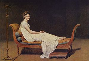 Juliette Récamier, Portrait by by Jacques-Louis David, Courtesy of Wikipedia
