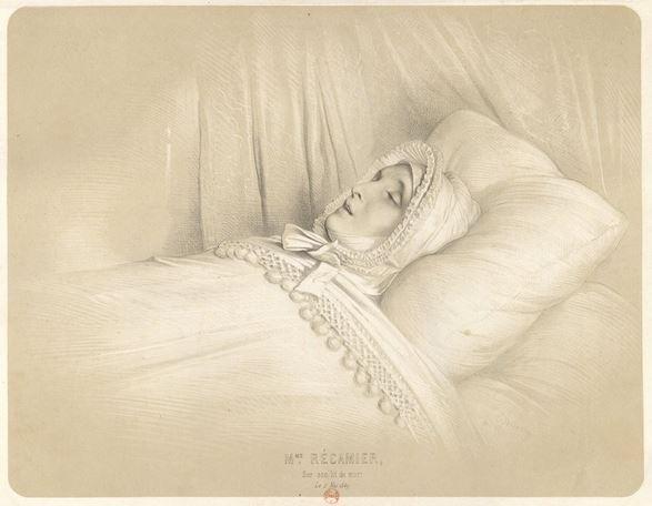 cholera in France - Juliette Récamier on her death bed.