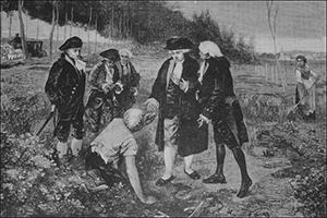 Parmentier Showing Potatoes to Louis XVI, Public Domain