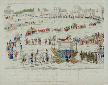 Voltaire's death - The Crowds as his body was transferred to the Pantheon, Courtesy of Bibliothèque nationale de France