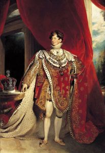 George IV's coronation in his robes