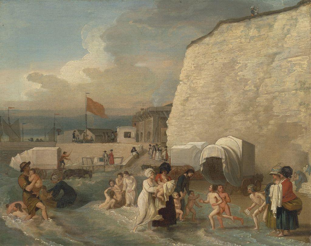 cold sea bathing