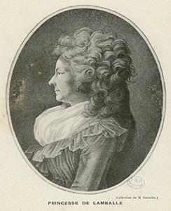 Princesse de Lamballe's travels -