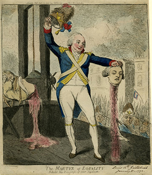 Severed heads - the Duke d'Orléans holding Louis XVI's head.