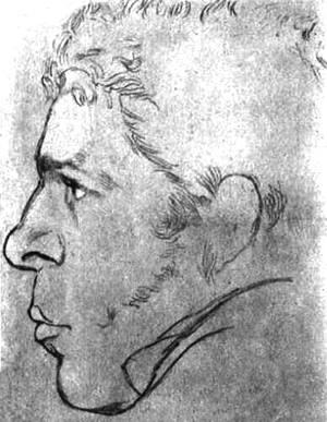 Madame Tussaud's Chamber of Horrors - Sketch of John Thurtell