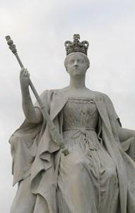 Kensington gardens statue of Queen Victoria.