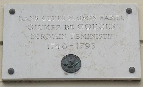 Olympe de Gouges plaque