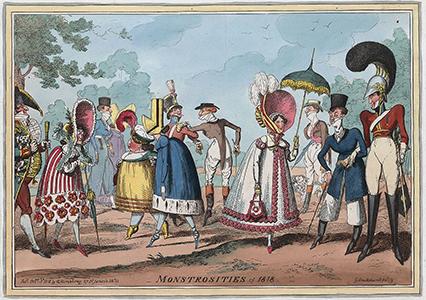 George Cruikshank - Monstrosities of 1818