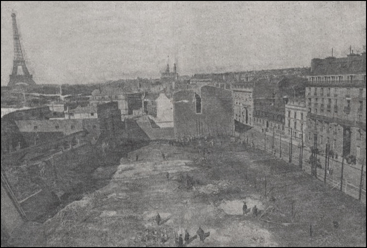 1897 charity bazaar fire - site where the bazaar stood