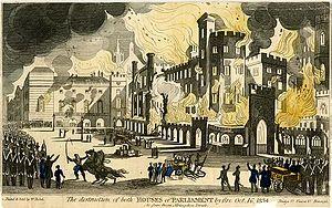 Parliament fire - October 1834