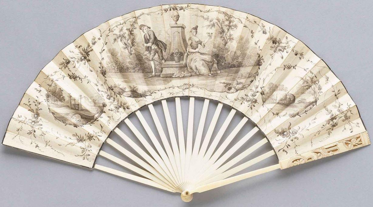 Eighteenth century fans - mourning fan