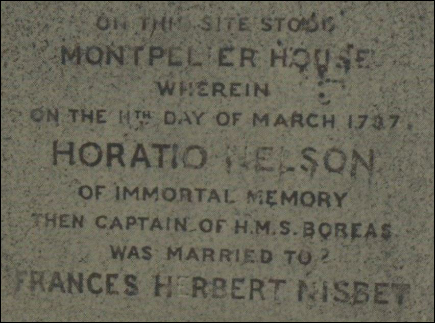 Frances Nelson and Horatio Nelson - memoriam
