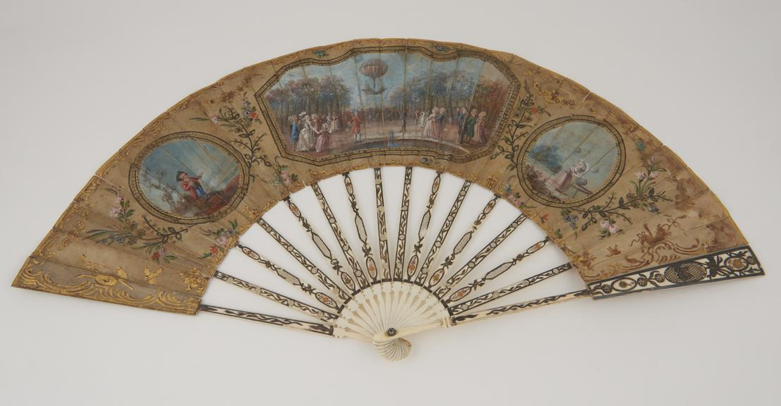 Eighteenth century fans - 1783 baloon launch