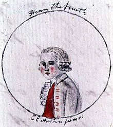 Jane Austen - Cassandra's drawing for her of Henry IV