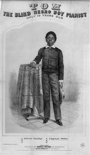 Blind Tom at 10 years old.