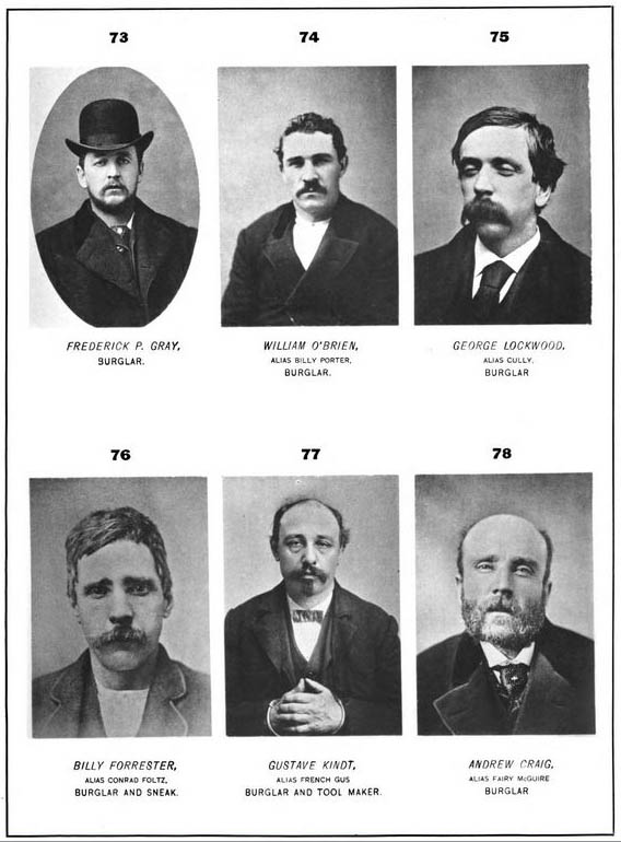 Inspector Thomas Byrnes book showing rogues' gallery