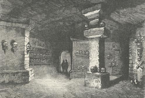 Paris Catacombs or Paris Catacombes.