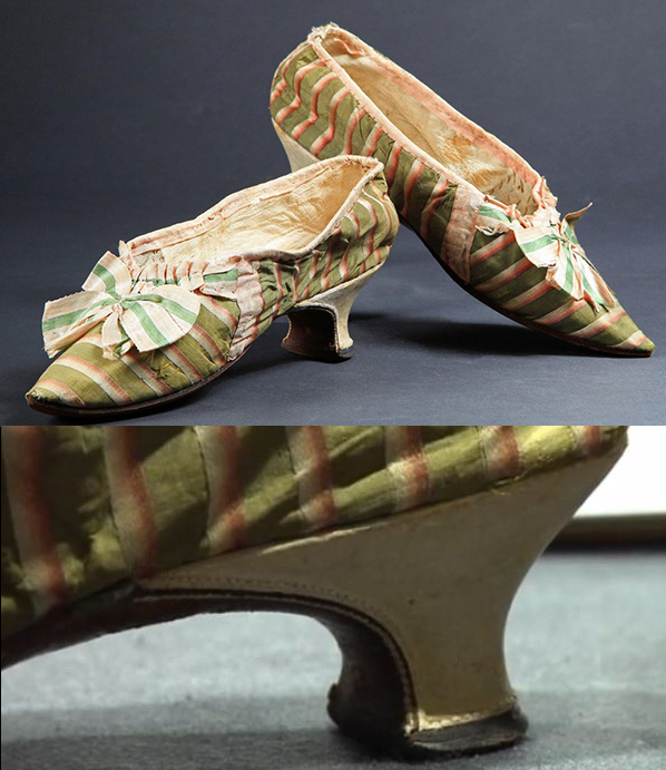 Marie Antoinette wore these striped shoes.