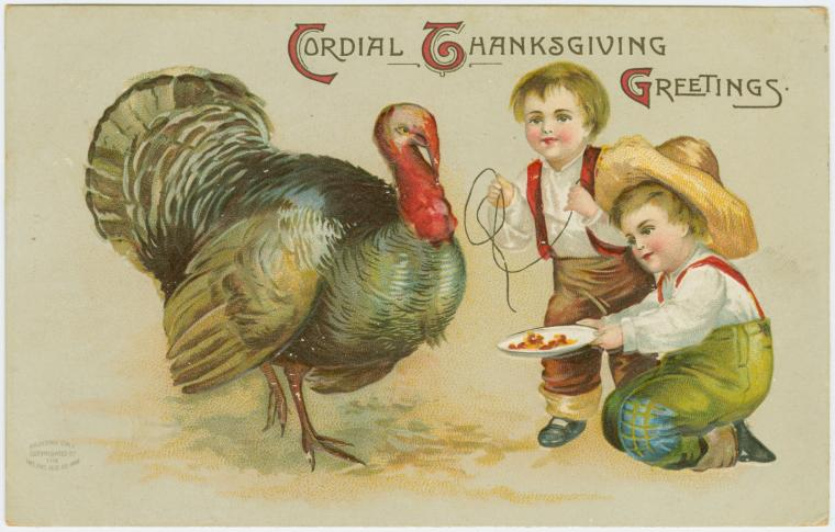 Thanksgiving day. Cordial greetings.