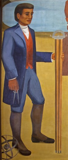 Benjamin Banneker depicted on a 1943 mural