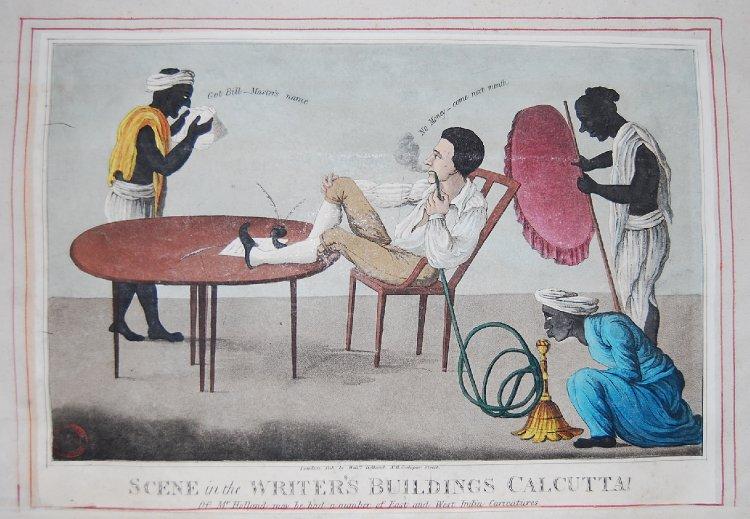 British social life in India - hookah