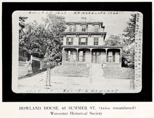 Esther Howland home in Worcester, Massachusetts