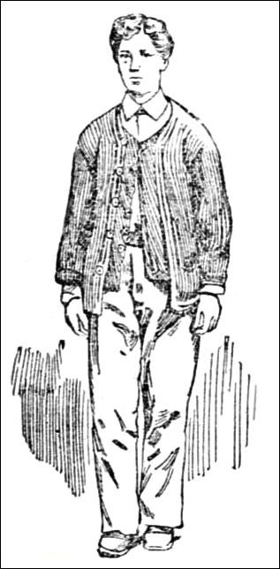 Jeanne Bonnet dressed as a male