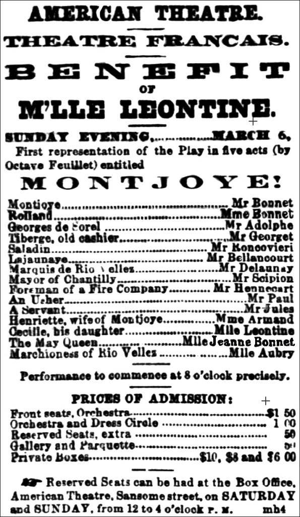 Jeanne Bonnet - American Theatre role