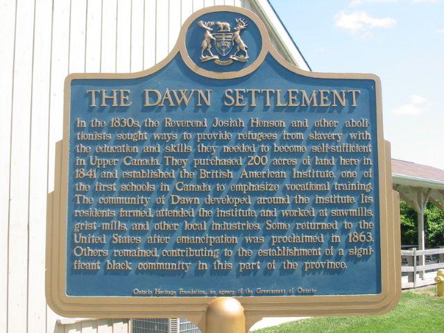Josiah Henson - the Dawn settlement