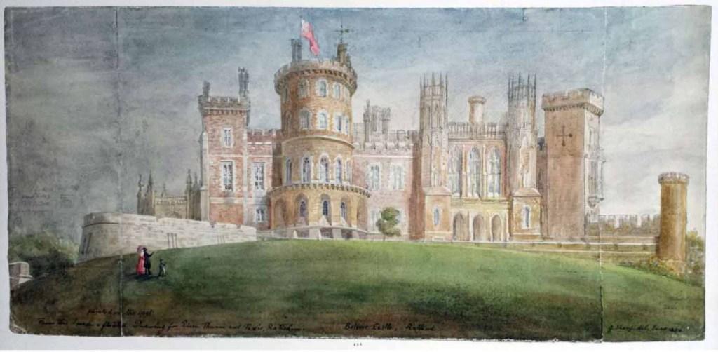 Belvoir castle fire - castle in 1856