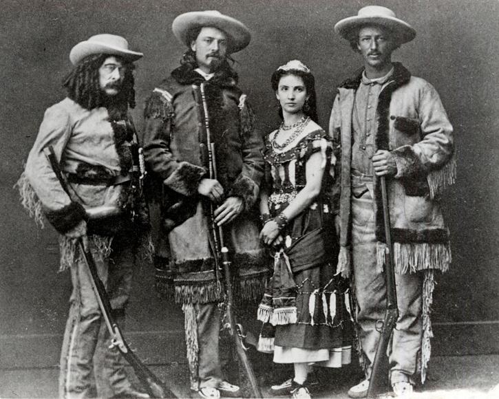 Ned Buntline, Buffalo Bill, Guiseppina Morlacchi, and Texas Jack
