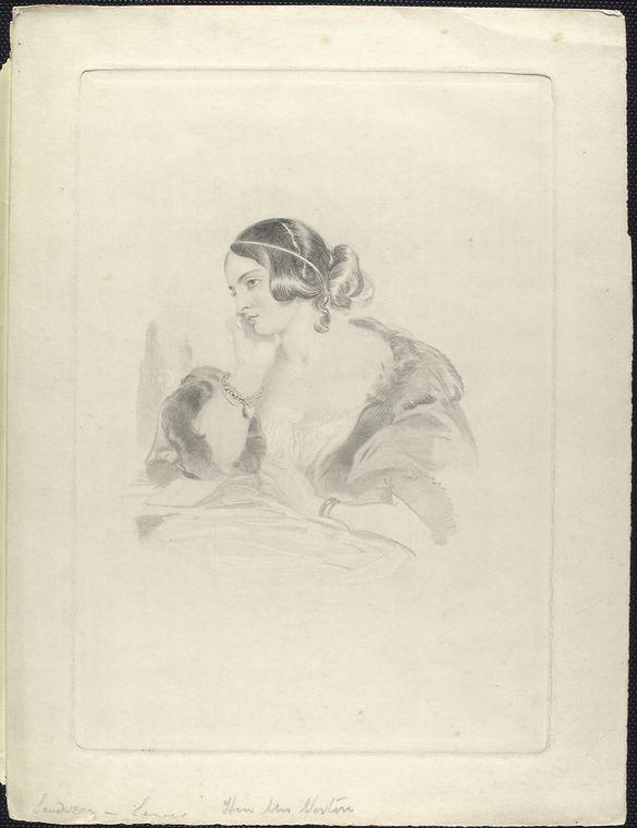 Caroline Norton - drawing