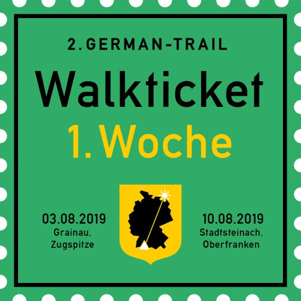 German-Trail-Ticket Woche 1 2019