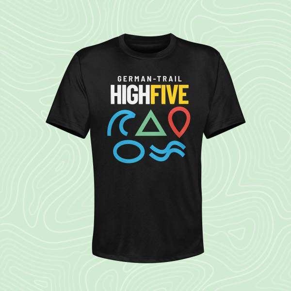 German-Trail High Five T-Shirt Jet Black Schwarz