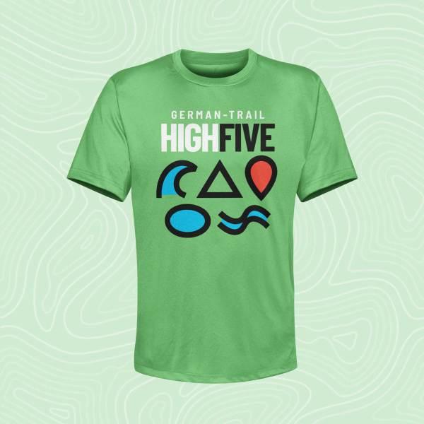 German-Trail High Five T-Shirt Kelly Green Grün