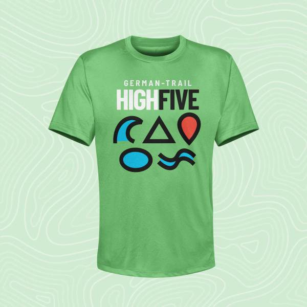 German-Trail High Five T-Shirt Kelly Green Grün
