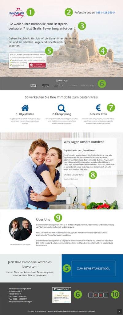 LandingPage für Immobilienmakler
