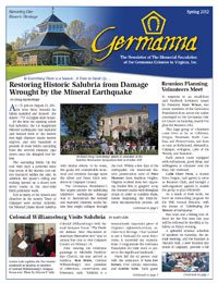 Germanna Foundation Newsletter, Spring 2012