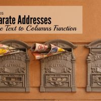 How to Use Excel Text to Columns To Separate Addresses
