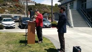 Congressman Dana Rohrabacher opening speech GERMAN SCHOOL campus Newport Beach Sea Base